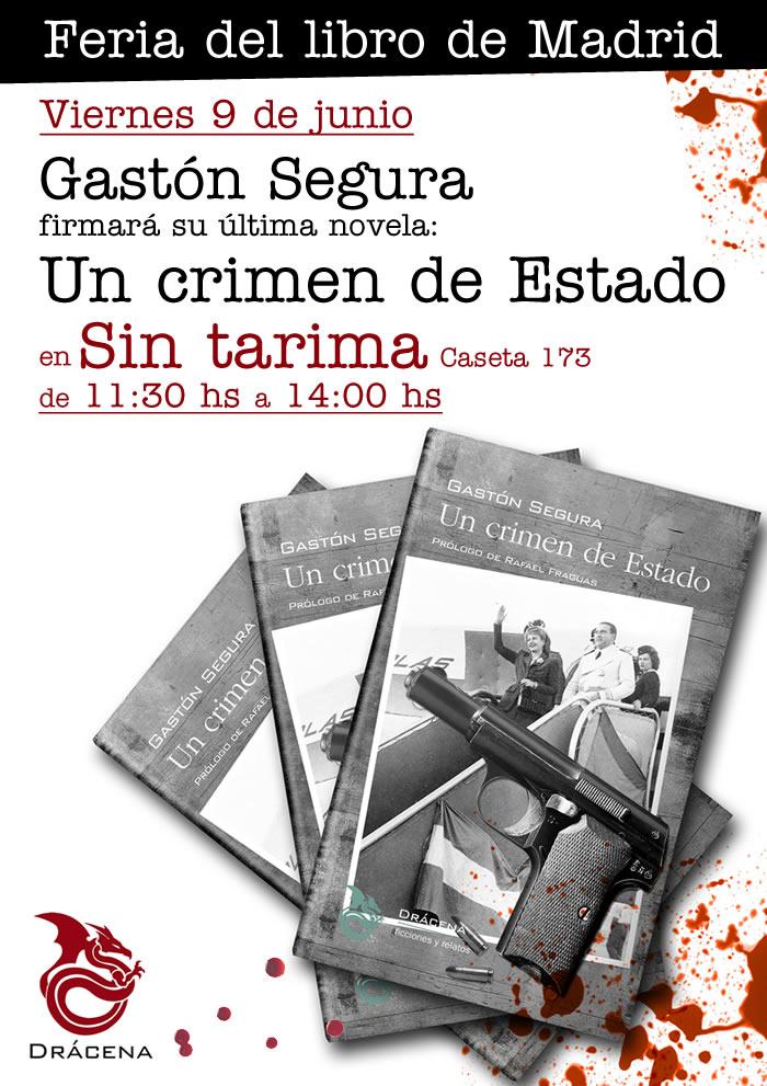 Firma de libros de Un crimen de Estado en la Feria del libro de Madrid